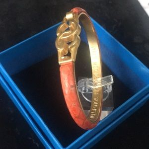 Gucci Jewelry - Rare Vintage Gucci Orange Snake Skin Bangle